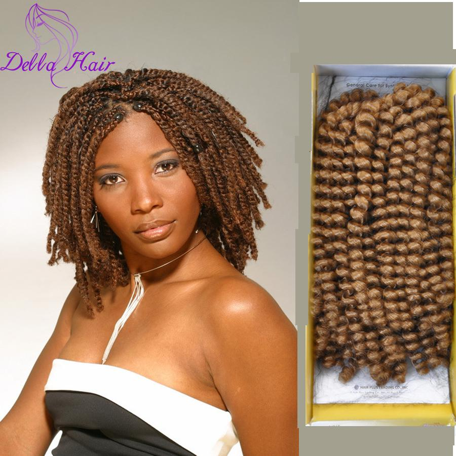 Wholesale 8 Afro Kinky Twist Hair Crochet Braids Ombre Synthetic