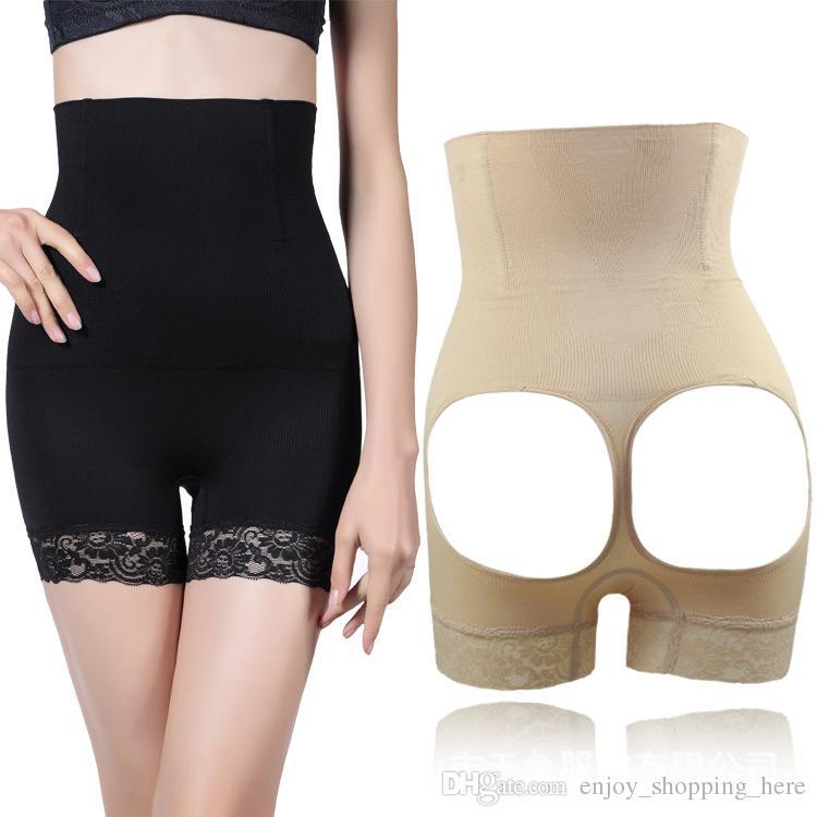 엉덩이 기중 팬티 여자 뜨거운 shapers 제어 짧은 팬티 슬리밍 속옷 엉덩이 증강 부티 리프터 셰이퍼 Shapewear 플러스 크기