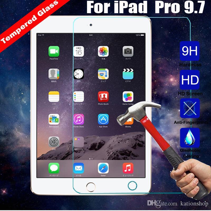 Ipad 프로 12.9 인치 3 4 공기 / 공기 2 미니 2/3/4 패키지에 대한 강화 유리 0.3MM 화면 프로텍터