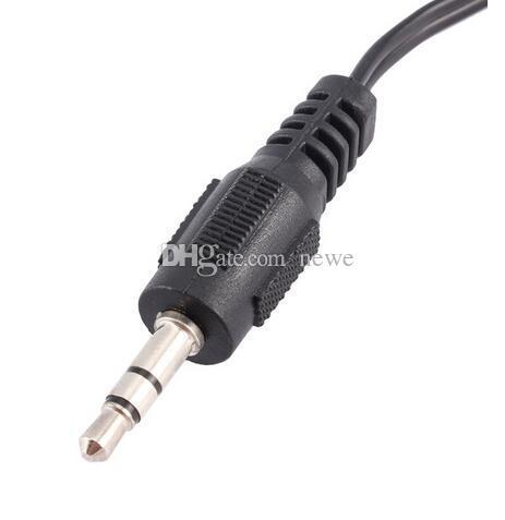 Аудио адаптер 1 м Джек мужской 2 RCA MaleCable для Mp3 Mp4 плеер мобильный телефон Mini Plug Jack стерео
