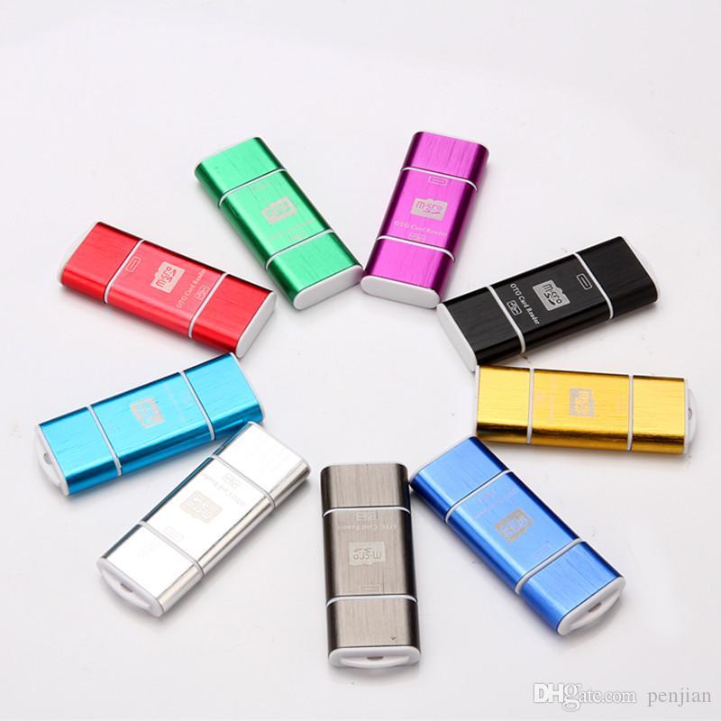 Микро-SD/TF карт микро USB OTG считыватель смарт-карт I-Флэш TF карты USB-накопитель читатель карты памяти для Android телефон ПК