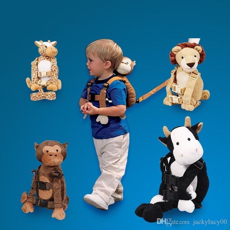 Goldbug 2 IN 1 Harness Buddy Bébé Anti-perdu Strap Carrier Backpack Sacs Sac Enfants D'anniversaire De Noël Cadeaux 16 Kinds Design Disponible Livraison Gratuite