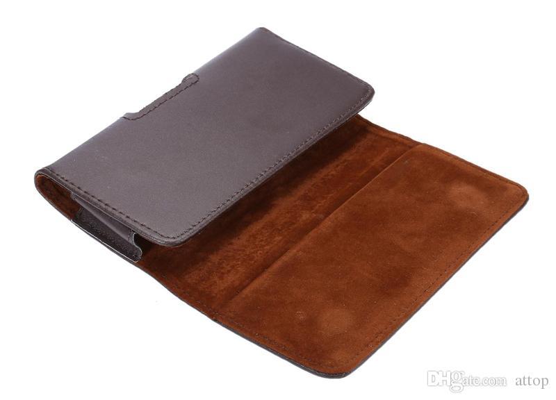 Étui en cuir Véritable Holster Pouch avec clip de ceinture et fermeture magnétique pour iPhone Samsung LG MOTO Cas de téléphone portable DHL Livraison gratuite