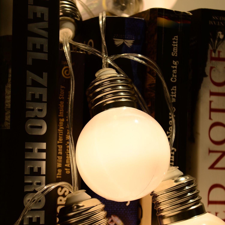 Großhandel Großhandel Weiß 10 Leds Fairy String Licht Kunststoff Birne  Formen Romantische Led Lampe Für Garten Outdoor Weihnachten Hochzeit  Dekoration Von ...