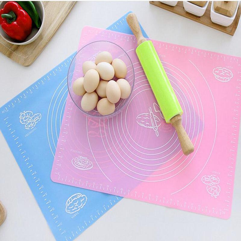 29*26cm Silicone Mat Baking Cakes Pans Non-Stick Silicone Pad Table Grill Pad Jelly Fondant Cooking Plate Kitchen Tools