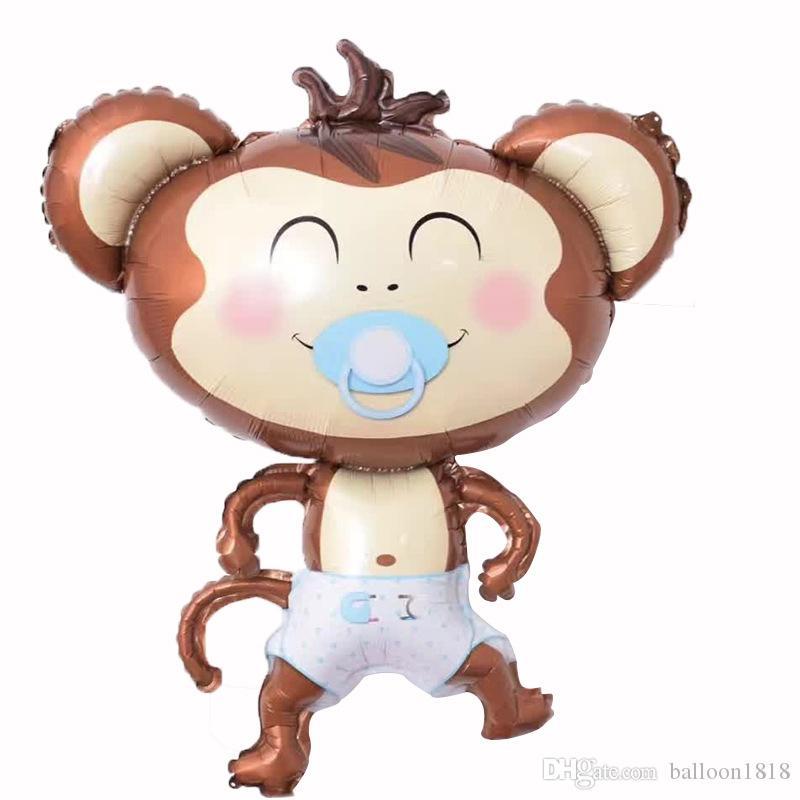 / Mamelon Singe Feuille Ballons Gonflables Jouets Globos Fête D'anniversaire Décorations Enfants Hélium Ballon Baby Shower Party Supplies