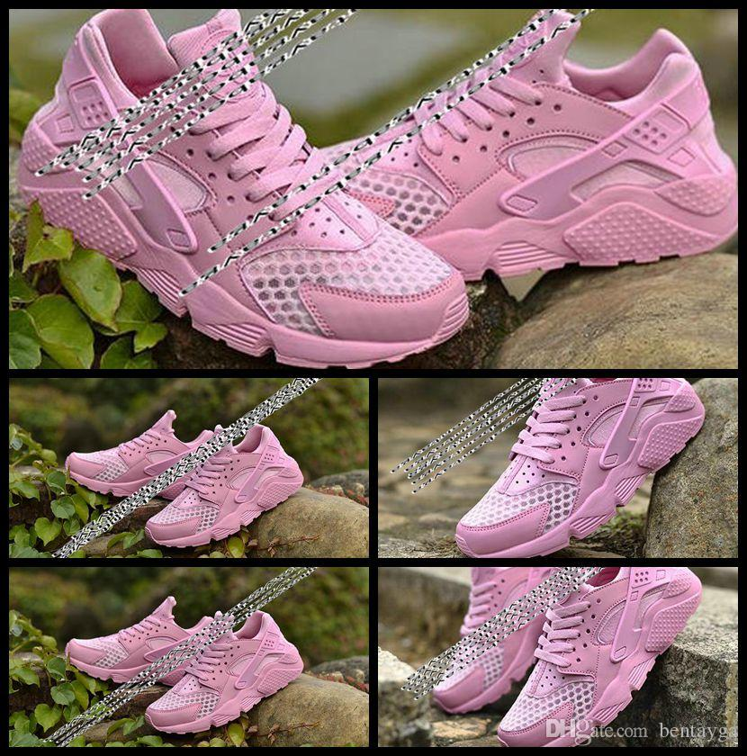 san francisco 2d7aa 161d4 2017 New Triple Women Air Huaraches Sneakers Original Quality Training  Shoes Air Huarache Pink October Basketball Shoes Running Shoes Men Running  ...