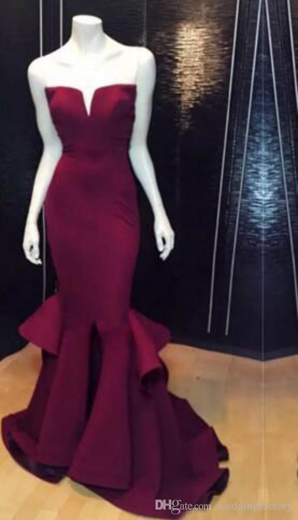 우아한 이브닝 드레스 바닥 길이 V 넥 끈 민소매 인어 댄스 파티 드레스 Vestidos 드 축제 섹시한 전면 슬릿