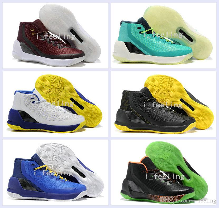 2017 New Curry 3 Iii Mens Basketball Shoes Retro Signature ...