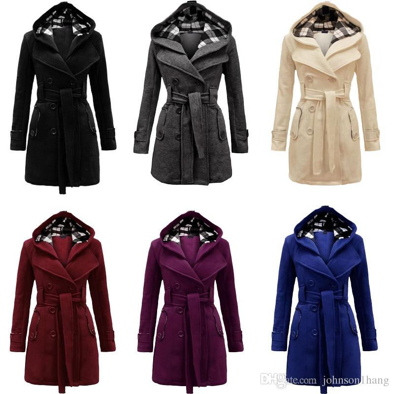 2018 European Style Winter Women Trench Coat Fashion 2018