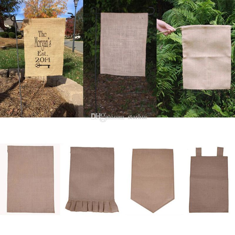 Exceptionnel Online Cheap 31*46cm Burlap Garden Flag Diy Jute Ruffles Linen Yard Hanging  Flag House Decoration Portable Banner 4 Styles In Stock Wx9 02 By Starhui  ...