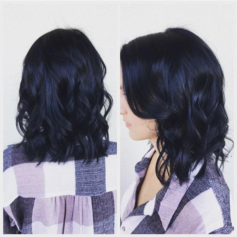 12in Lob Hairstyle Wet and Wavy Brazilian Hair Natural Lace Wigs Customizable Glueless Full Lace Wig Greatremy Virgin Human Hair Fashionable