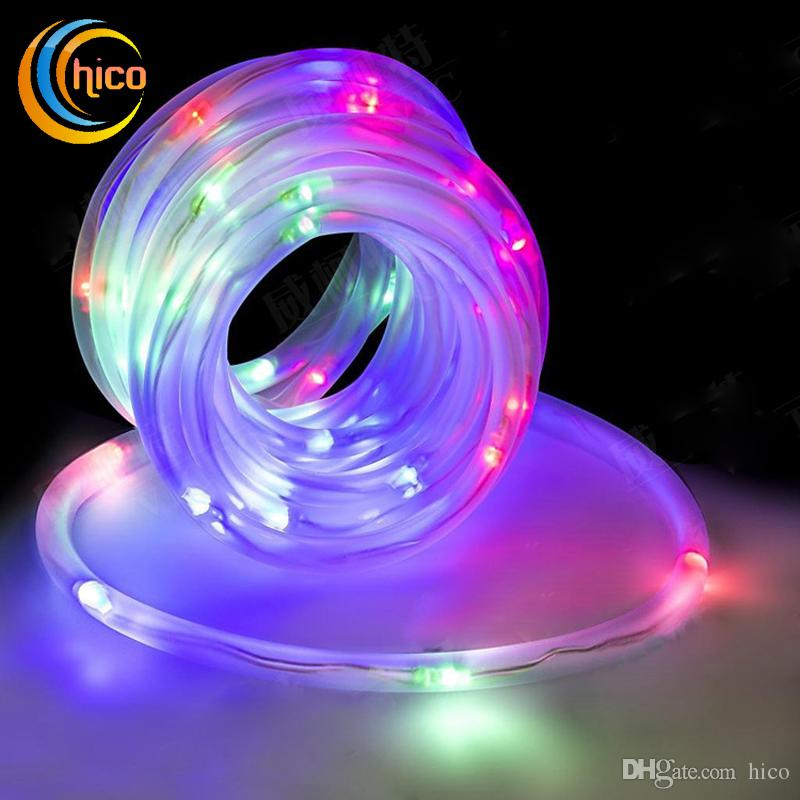 outdoor christmas lights put in tube hollow solar power led string lights garden 12m 100 leds outdoor waterproof flower light string solar string lights led