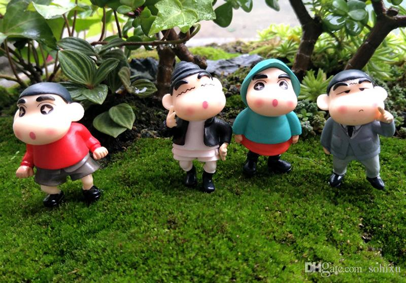 Cartoon Swim Crayon Shin Fairy Garden Ornaments Ecological Bottle