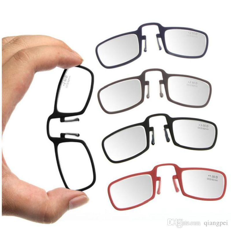 976b2bc7cc Compre Hot Mini Diseño Gafas De Lectura Portátil Mini Clip De Nariz Gafas  De Lectura Unisex Con Caja es Envío Gratis A $12.33 Del Qiangpei |  DHgate.Com