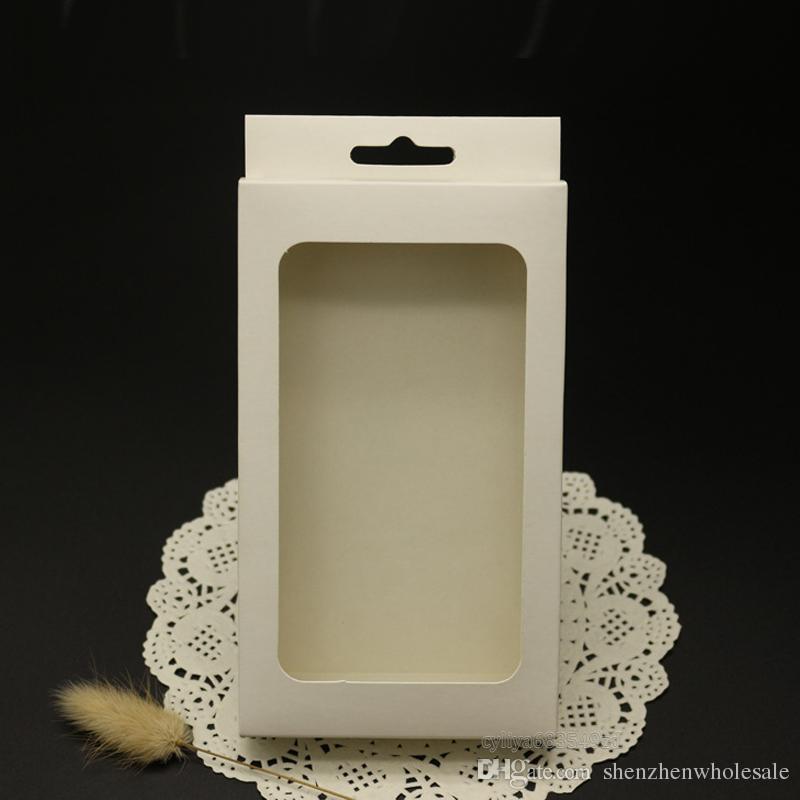 boîtes universelle ordinaire Kraft papier brun Paquet boîte au détail pour la couverture de cas de Smart Phone Téléphone portable Samsung Galaxy S4 S5 S6 bord de