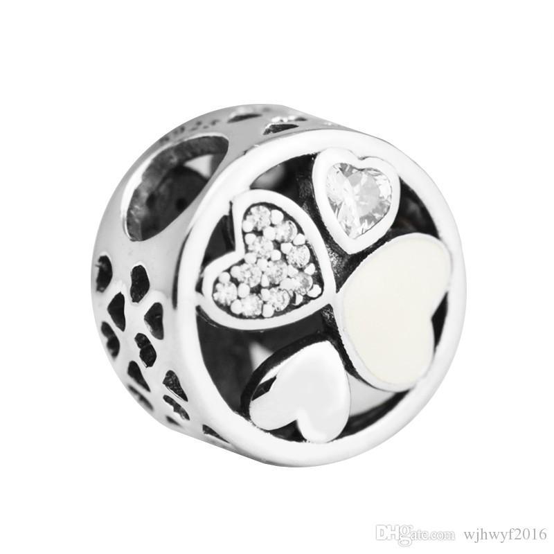 2019 Fits Original Pandora Bracelets Heart Of Love Charms Bead 925