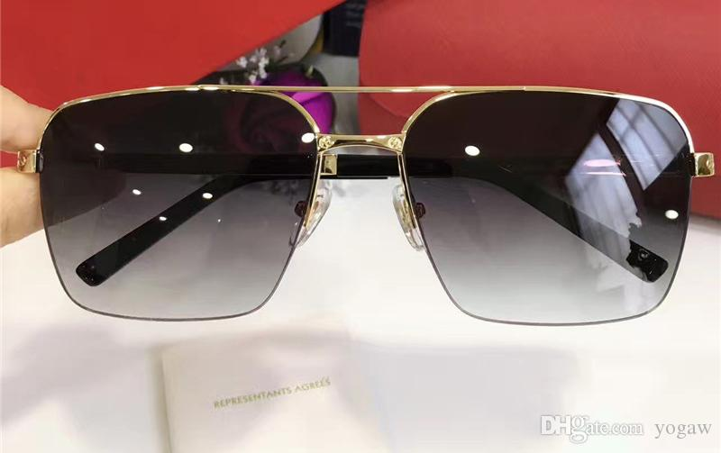 4e56c6b909f Mens Square Gold Grey Gradient Lens Sunglasses Brand Designer Sunglasses  Brand Men Sunglasses New With Box Round Sunglasses Cheap Eyeglasses From  Yogaw