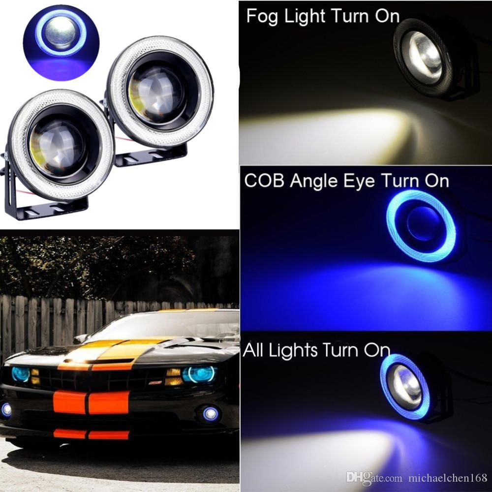 fendinebbia angel eyes  Acquista 2 PZ Auto Cob Led Angel Eyes Proiettore Fendinebbia Led ...