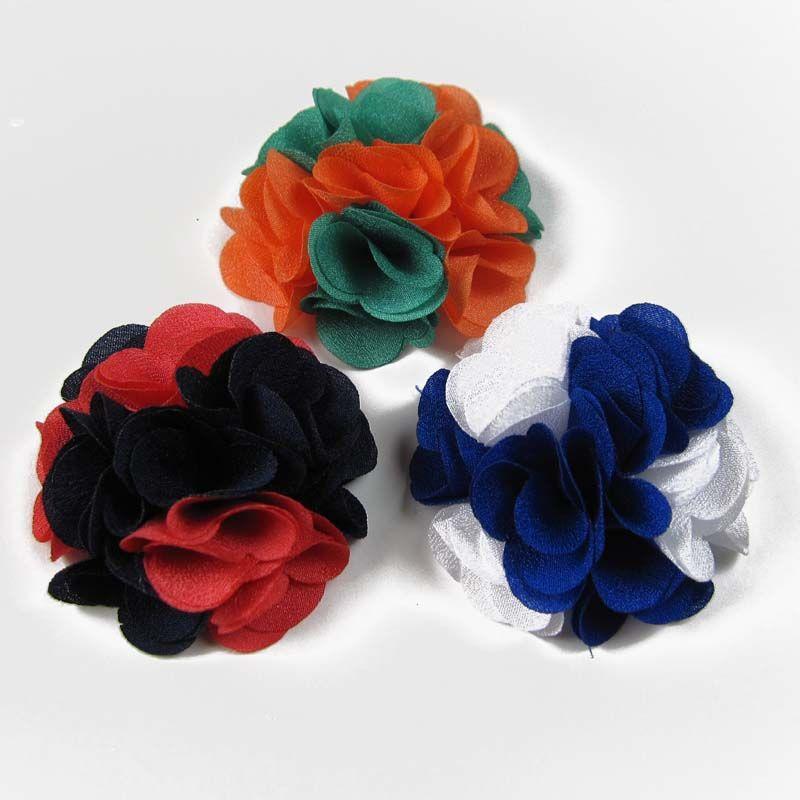 /ロット2 ''ダブルシルクフラワーバラの花ファッションアクセサリーfabriの花