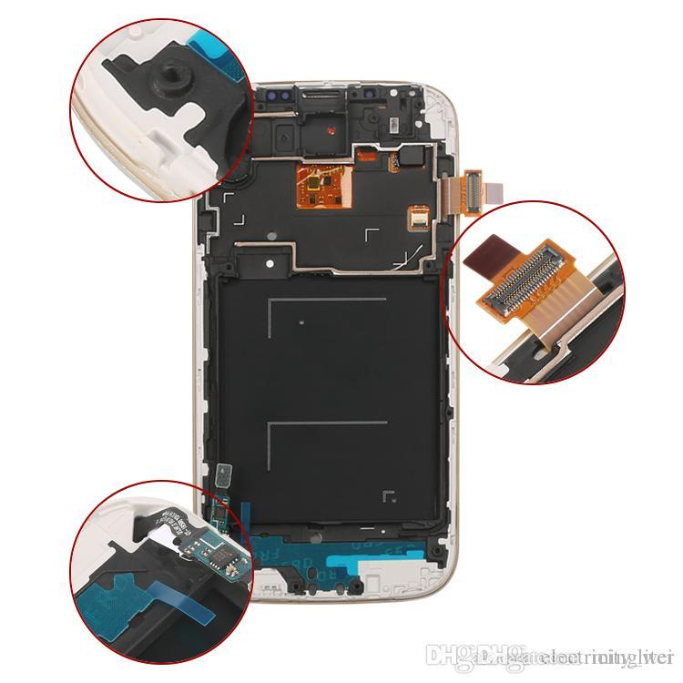 high quality Factory Made LCD Display for samsung S4 Touch Screen For Samsung Galaxy S4 lcd Digitizer with frame White Black
