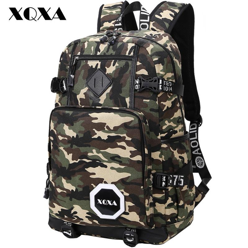 Wholesale Xqxa Camo Backpack Men Preppy Style School Backpacks For ...