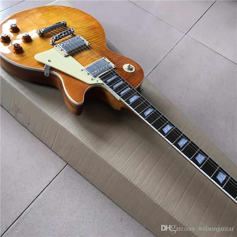 New Chinese good guitar custom shop guitar custom Electric Guitars,orange color guitarra, can be customed , high quality