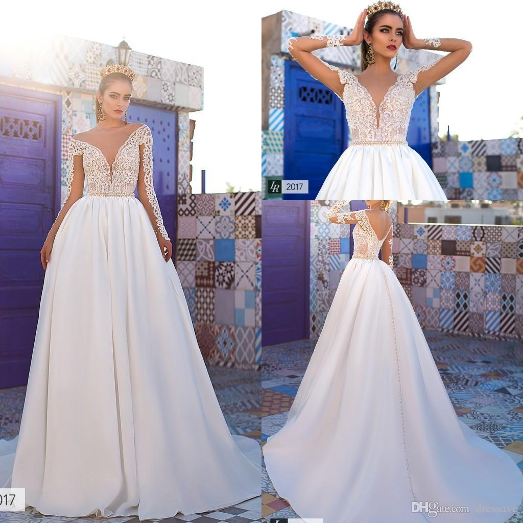 Discount 2017 Elegant New Castle Wedding Dresses Lace