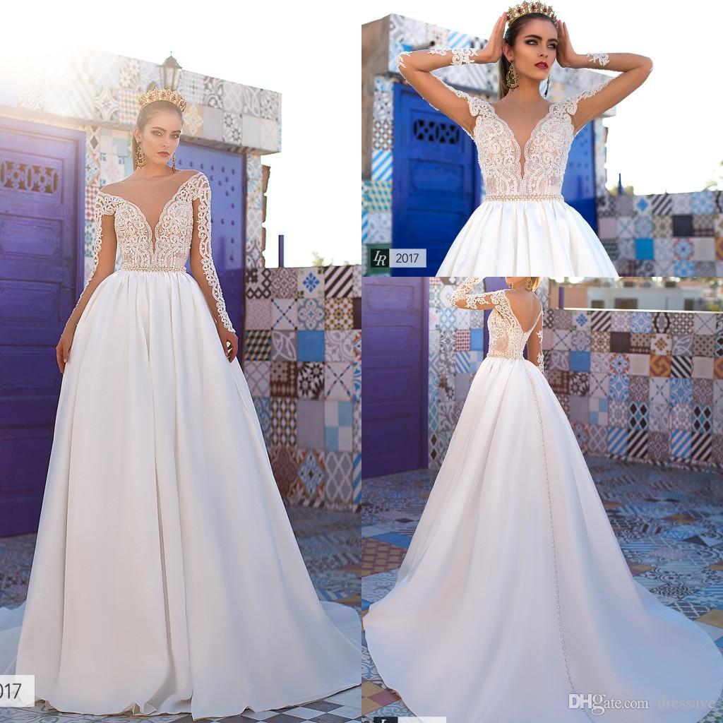 Discount 2019 Elegant New Castle Wedding Dresses Lace