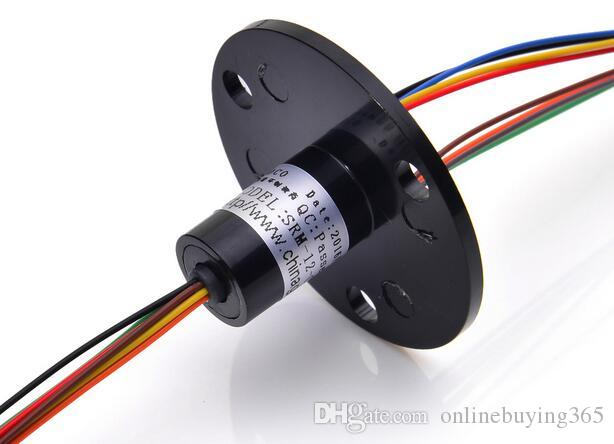 Conductive Brush Slip Ring 8 Channel 1.5A SRM-12-08D Capsule 360 Degree Rotating Electric Collect Mini Slip Rings