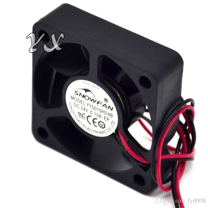 Envío gratis de alta calidad Nuevo YY5015H24B 5015 Ventilador 5cm 24V 0.10A Doble bola ventilador de la unidad 50 * 50 * 15mm