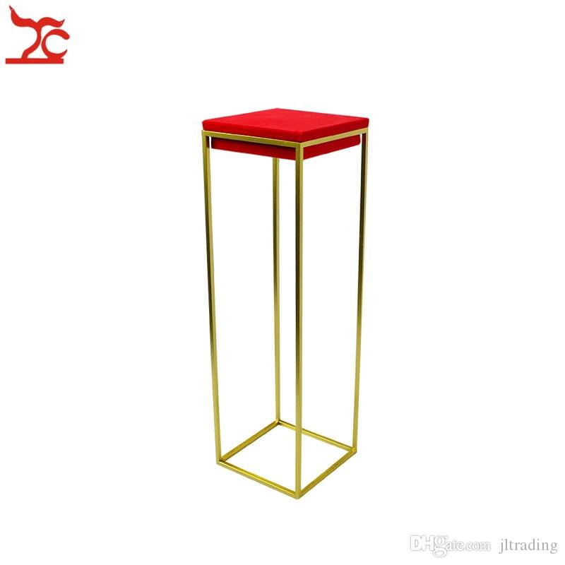 High End Stainless Steel Jewelry Display Holder Red Velvet Pendant Bangle Riser Ring Organizer Holder Window Jewelry Display Stands Rack