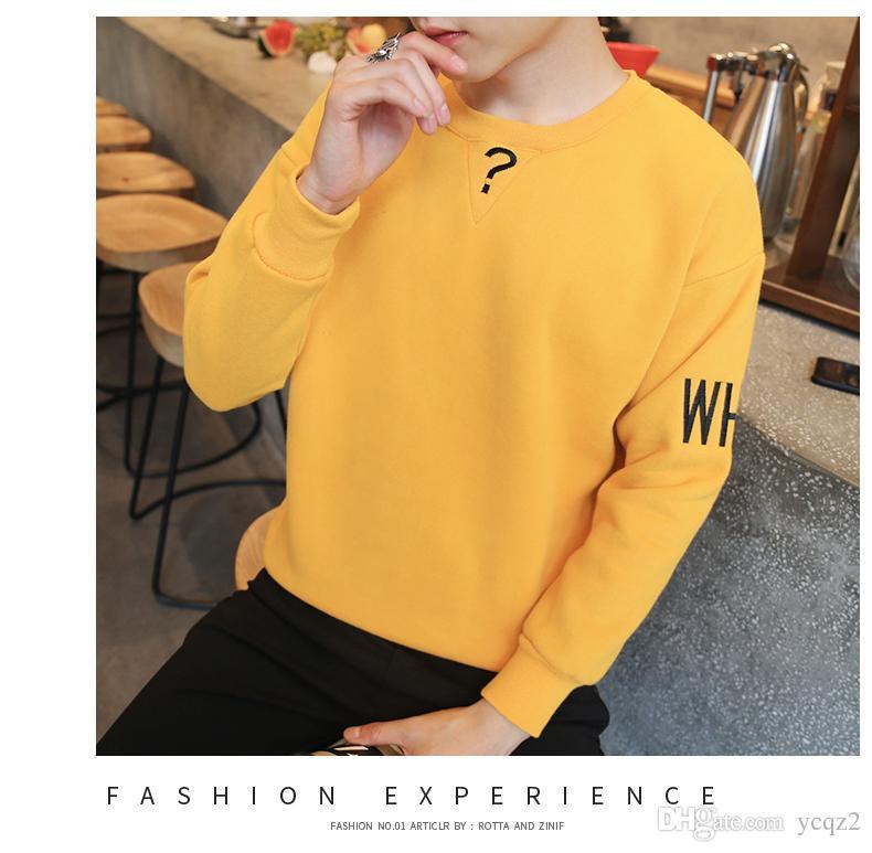 2016 neue Männer Kaschmir-Pullover mit dicken Herbst Student Kopf koreanische Gezeiten Teenager Jacke Männer Großhandel Hersteller One zum Verkauf