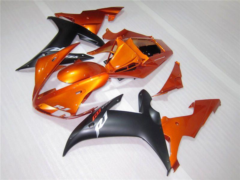 Burnt Larange Fairing Kit para Yamaha YZF-R1 02 03 YZF R1 2002 2003 YZFR1 YZF1000 YZF-1000 02 03 Feiras completas