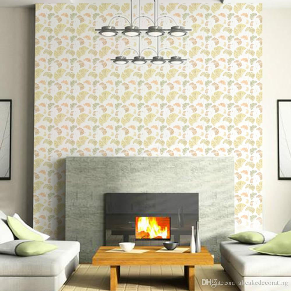 Wedding Decorating Ginkgo Leaf Design Stencil For Diy Wall Painting ...