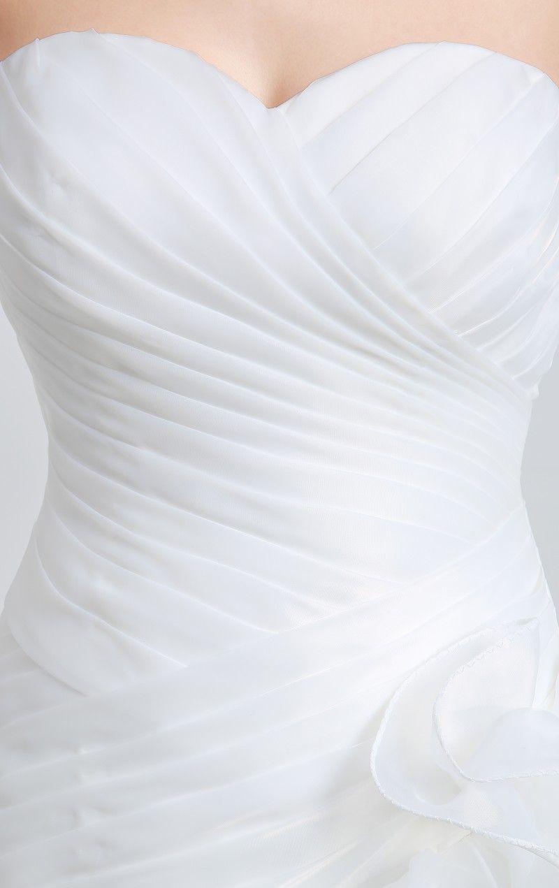 Yeni Seksi Beyaz Ucuz Organze Mermaid Gelinlik 2017 Aplikler Lace Up Düğün Parti Gelinlikler Stok Boyutu 6-16 QC336
