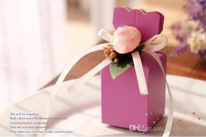 2019 neue kommen hochzeitsgunst boxen papier sweety box geformt mit schönen blumen party geschenk paket europäisch heißer verkauf
