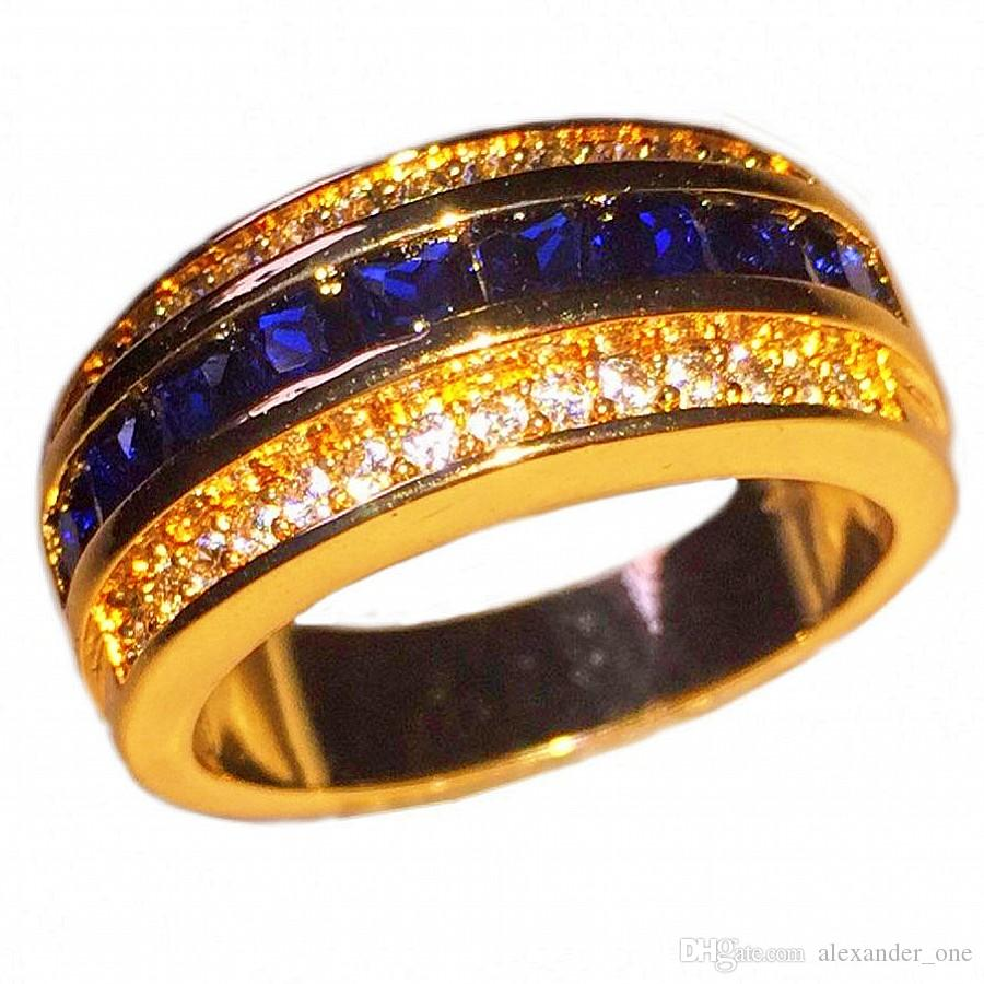 plated eternity anniversary gold zirconia p cubic white silver ring over sapphire bands band halo and