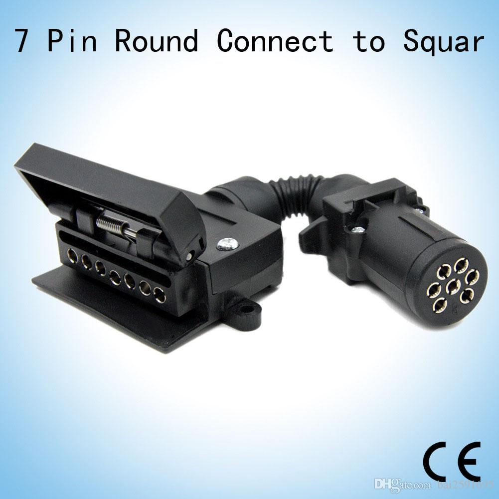 7 Pin Flat Female Trailer Light Plug Connector Socket Caravan/Boat ...