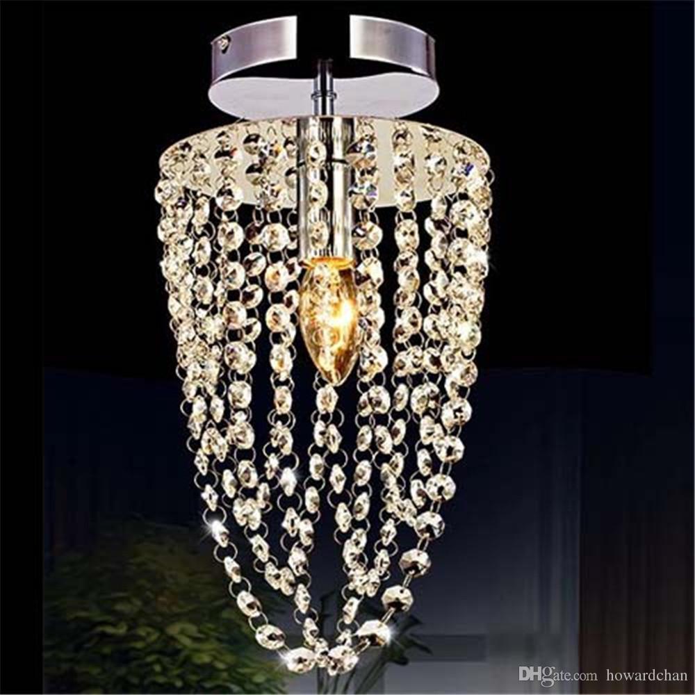 pretty nice 102ec 2712b Home Crystal lighting Ceiling Light Chandelier Lamp Pendant Hallway Lights  E14 LED Good Quality