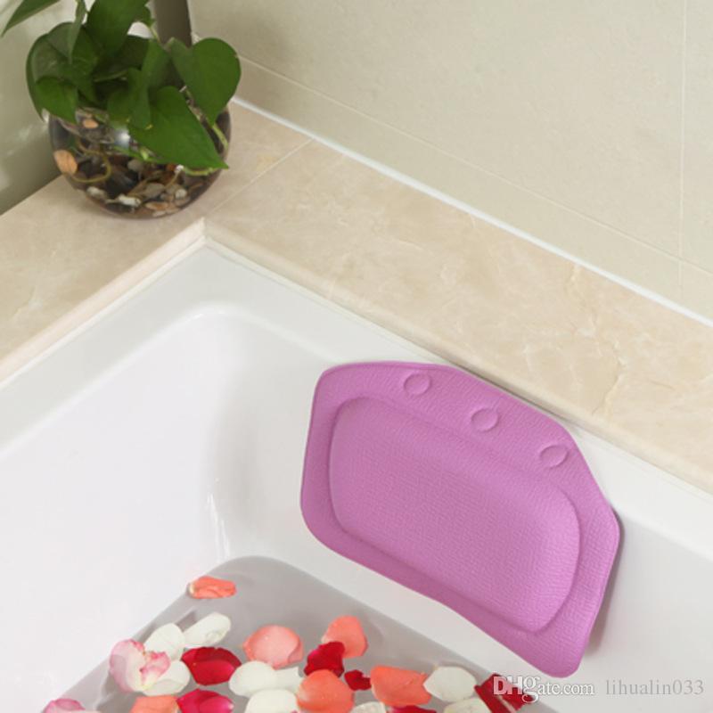 Badewannen-wasserdichte Badekurort-weiche Bad-Kissen-Kopfstütze mit Saugnapf-Wanne-Kissen-Badezimmer-Produkten 4 Farben 21x31cm