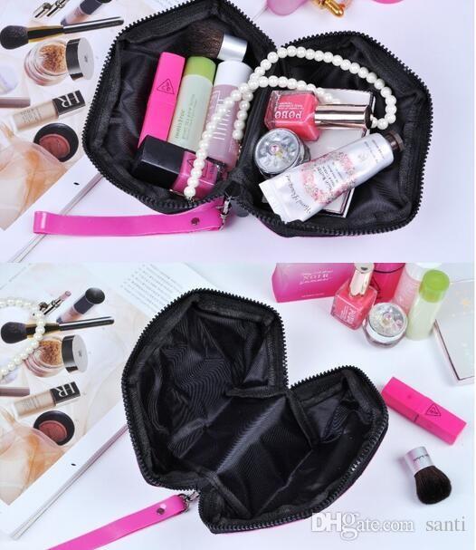 Geometric Cosmetic Bag Women Laser Diamond Makeup Bag Cosmetics Organizer
