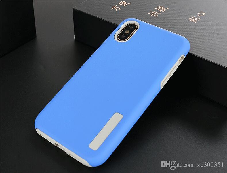 Frosted Case Stoßfeste Stoßfänger-PC-Abdeckung für iPhonex