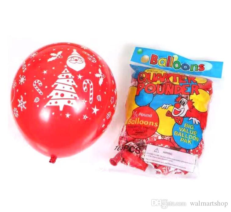 Festival balloon Christmas Decorations Lantern 12inch 2.8 Matt round balloon Holiday Party Wedding Halloween Balloon Decoration acc252