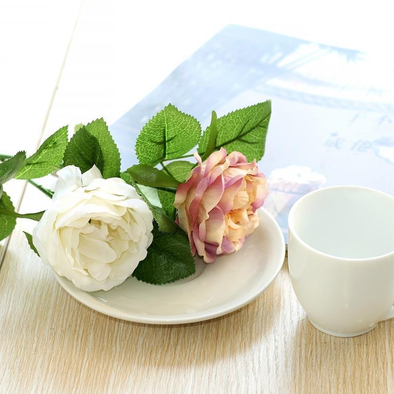 가짜 꽃 꽃 장미 꽃다발 / 가정 / 결혼식 훈장 인공 꽃 신부 꽃다발 꽃 진짜 터치 장미