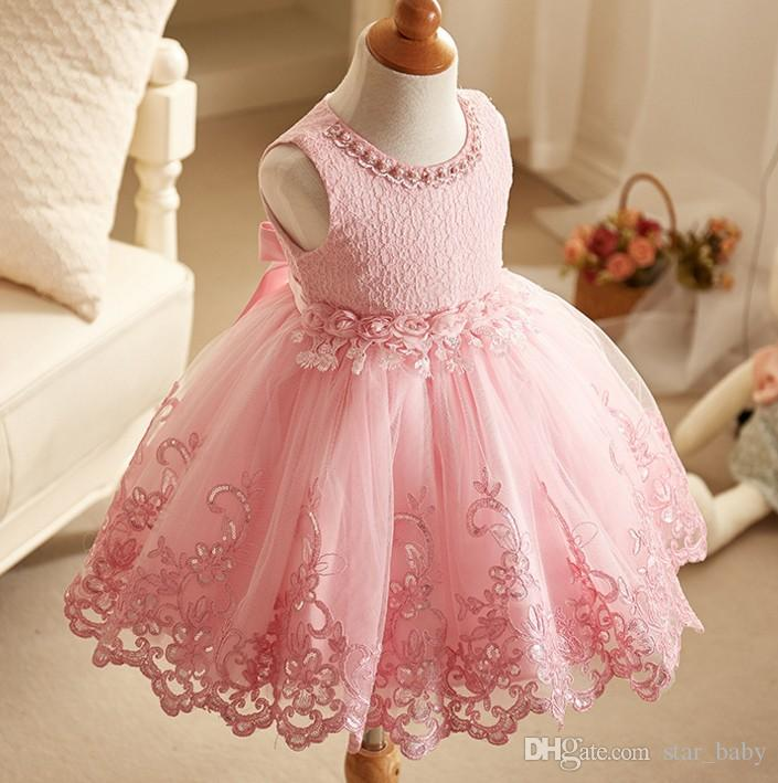 babc6bf6fc918 Acheter 2017 Filles Princesse Robe Fille Sans Manches Bowknot Gilet Robe  Enfants Costume Belle Enfant Robe J6033 De  102.52 Du Star baby