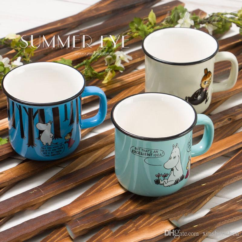 moomin thermos cups cute ceramic moomin coffee mug tea beer cup with handgrip ceramic cup coffee mug pottery coffee mugs pretty coffee mugs from xinshenzhen