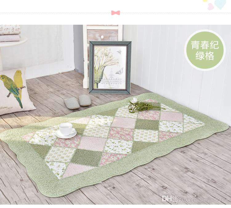 Cotton Carpet plaid Kids Gym Rug Play Game Mat Baby Crawling Blanket Outdoor Pad Room Anti-slip sofa Yoga Floor Mats drop shipping