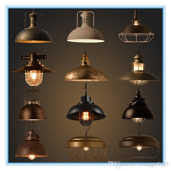 Wholesale Vintage Industrial Lighting Copper Lamp Holder Metal Pendant Light  American Aisle Lights Lamp Edison Bulb 110V 260V