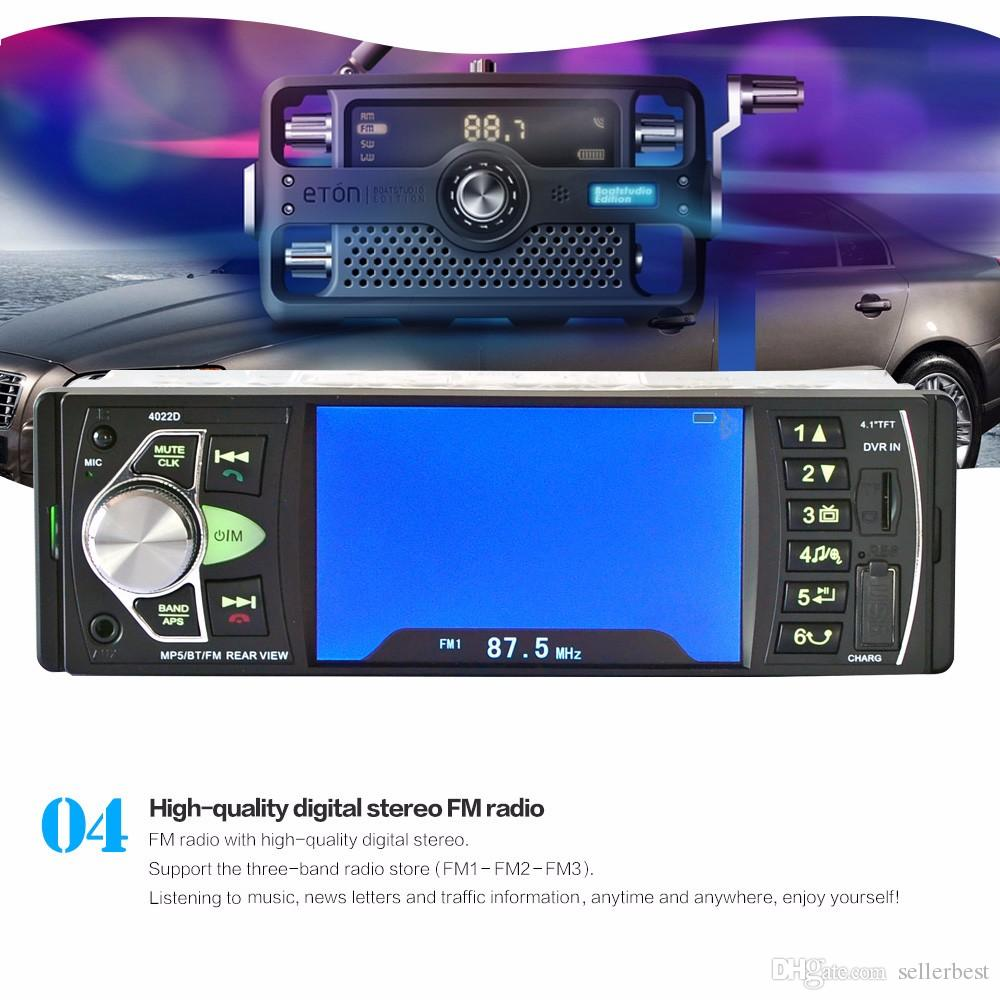 4022D 12 V 4.1 Inch HD Digital Car FM Radio MP5 Player High Definition One Din TFT Audio Video Playing With USB SD AUX Interface Car dvd